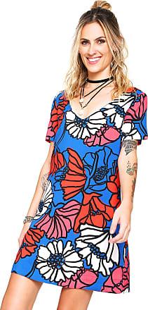 Oh, Boy! Vestido OH BOY Curto Sun Flower Azul