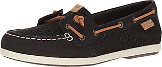 Sperry Top-Sider Womens Coil Ivy Perf Boat Shoe, Black, 5.5 M US