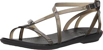Crocs Womens Isabella Gladiator Sandal (6 UK, Black)