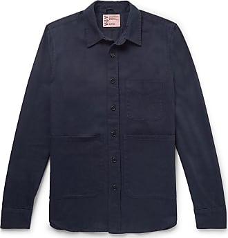Aspesi Cotton-twill Shirt - Midnight blue