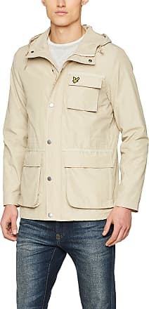 Lyle & Scott Mens Hooded Jacket, Beige (Light Stone Z268), X-Small