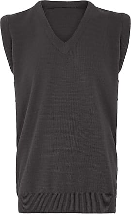 21Fashion Mens Sleeveless V Neck Knitted Slipover Sweater Adults Golf Sports Wear Tank Top Charcoal 4X-Large
