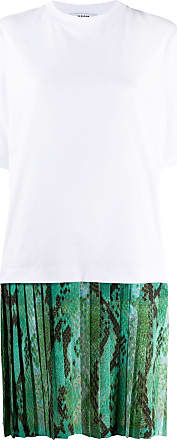 Msgm pleated skirt T-shirt dress - White