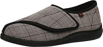 Insun Unisex Adjustable Extra Wide Diabetic Slippers for Swollen Foot Brown 9.5 UK Wide Women 9.5 UK Wide Men