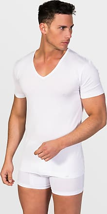 ZD Zero Defects Zero Defects white mercerized cotton v-neck t-shirt