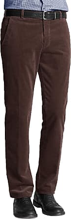 Generic Mens Corduroy Cord Trousers Cotton Formal Smart Casual Big Plus Size Pants[Brown,46 Waist 27 Leg]