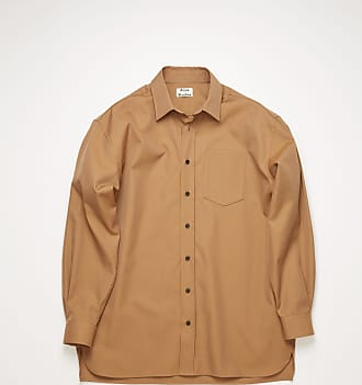Acne Studios FN-MN-SHIR000190 Mushroom beige Oversized cotton-blend shirt