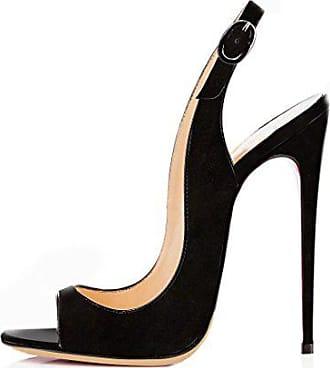 6fac8b4680df41 EDEFS Damen Riemchen Abend Sandaletten High Heels Pumps Slingbacks Peep  Toes Party Schuhe Bequem