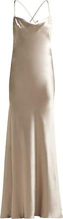 Galvan Whiteley Silk-satin Gown - Womens - Silver