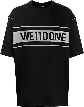 We11done T-Shirt im Oversized-Design - Schwarz