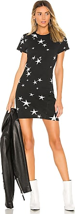 Pam & Gela Star T Shirt Dress in Black