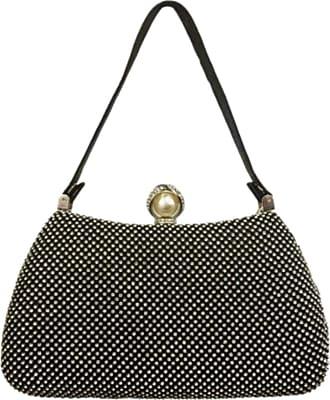Girly HandBags Girly HandBags Womens Diamante Top Handle Bag - Black