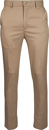 Glenmuir Mens Lightweight Performance Golf Trousers Khaki Regular 38