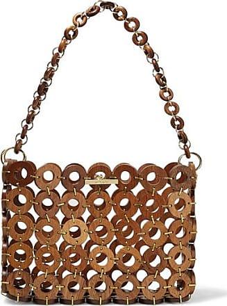 Cult Gaia Jasmin Wood Shoulder Bag - Brown