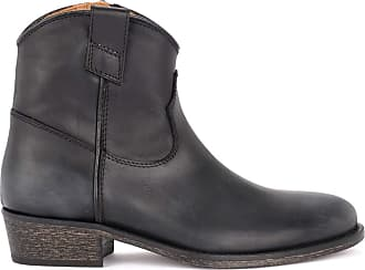 Via Roma 15 Texan Boot in Black Leather