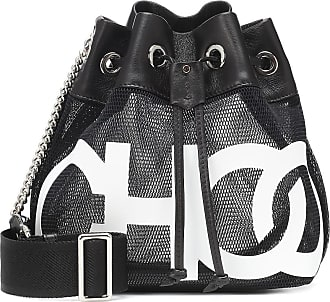 Jimmy Choo London Juno leather and mesh bucket bag