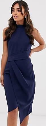 Lipsy Marinblå bodycon-klänning med halterneck