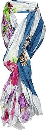 gecrashter TigerTie Schal in royal blau grau schwarz gemustert 180 x 100 cm