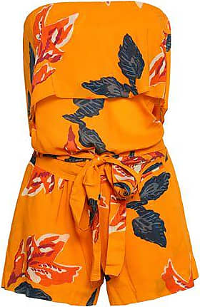 Vix Vix Paula Hermanny Woman Strapless Layered Printed Voile Playsuit Marigold Size S