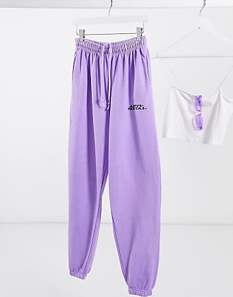 Topshop joggers in purple co-ord