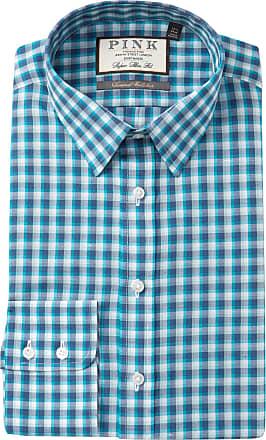 b76690dd Thomas Pink Gerry Check Super Slim Fit Dress Shirt