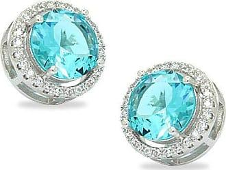 Royalz Brinco Royalz Semi Joia Prateado Cristal Helena Azul
