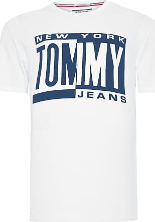 Tommy Jeans CAMISETA MASCULINA BOX LOGO - BRANCO