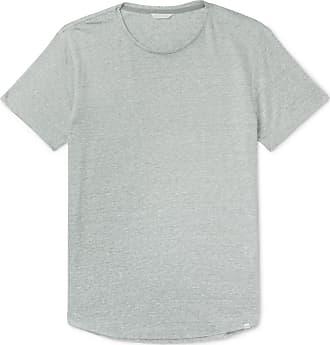Orlebar Brown Ob-t Slim-fit Striped Linen-jersey T-shirt - Gray