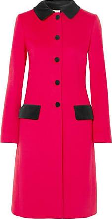Dolce   Gabbana Mantel Aus Einer Baumwoll-wollmischung Mit Samtbesatz - Rot 93d850be68
