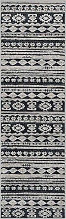 Well Woven PE-88-2 Pearl Kanab Modern Tribal Geometric Dark Grey Soft Rug 23 x 73 Runner