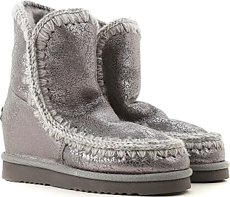 Mou Boots for Women, Booties On Sale, Silver, Calfskin Leather, 2017, EUR 38 - UK 5 - USA 7.5 EUR 40 - UK 7 - USA 9.5