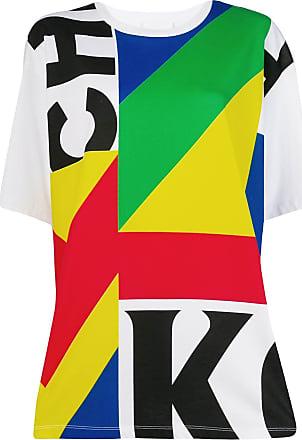 Koché Camiseta color block - Branco