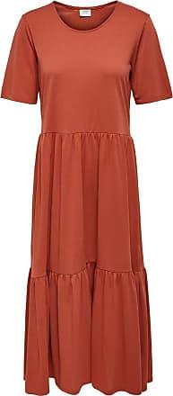 Jacqueline de Yong Womens JDYDALILA Frosty S/S Dress JRS NOOS, Hot Sauce, L