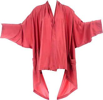 0aa64a924794e 1stdibs Laise Adzer 1980s Vintage Salmon Silk Avant Garde Open Front Blouse  Top W  Drape