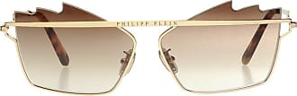 Philipp Plein Logo Sunglasses Womens Gold