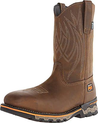 Timberland PRO Mens AG Boss Pull-On Alloy SQ Toe Work and Hunt Boot, Distressed Brown Leather, 14 W US
