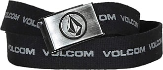 Volcom Cinto de Lona Volcom Circle Logo - Preto - ÚNICO