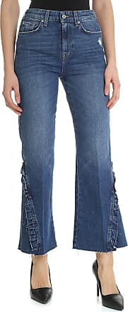 7 For All Mankind Vintage Cropped Blue HW jeans