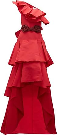 Johanna Ortiz Cumbia Y Luceros Ruffled Silk-faille Gown - Womens - Red