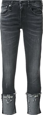 R13 distressed detail jeans - Black