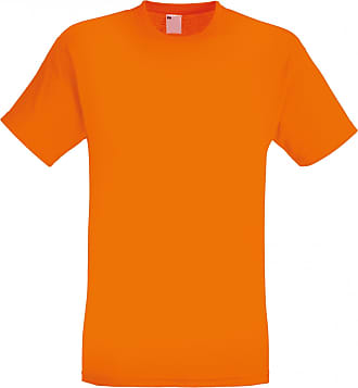 Universal Textiles Mens Short Sleeve Casual T-Shirt (Large) (Bright Orange)