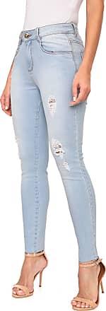 Morena Rosa Calça Jeans Morena Rosa Slim Cropped Giane Azul