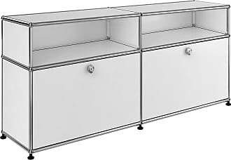 USM Sideboard mit 2 Klapptüren + 2 Fächer - reinweiß RAL 9010/102x37x56,5cm