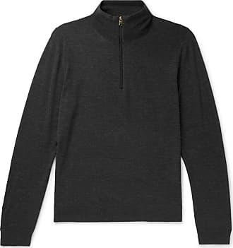Paul Smith Merino Wool Half-zip Sweater - Charcoal