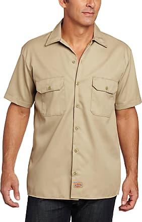 Dickies mensShort-Sleeve Work Shirt Short Sleeve Button-Down Shirt - Beige - XXXXXL