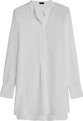 Joseph Joseph Woman Dara Washed-silk Tunic Off-white Size 40