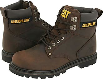 CAT 2nd Shift (Dark Brown Leather) Mens Work Boots