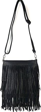 GFM SMALL Faux Leather Tassel Bag With Soft Fringes Tassels on Both Sides Shoulder bag (JY)(003-KL)