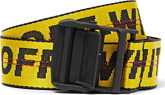 Off-white 3.5cm Yellow Industrial Logo-jacquard Webbing Belt - Yellow