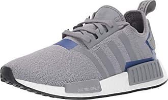 adidas Originals Mens NMD_R1 Running Shoe, Grey/Active Blue, 7 M US
